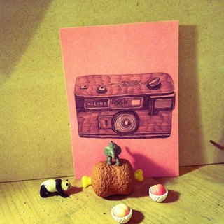Past X future any more useless Daily pink postcard single traditional camera