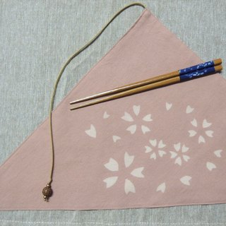 Mumu [vegetation] dye madder root vegetable dyes pink triangle pocket chopsticks set (petals paragraph)