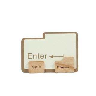 Unic natural log modeling magnet (Enter/Shift key) + boutique gift card