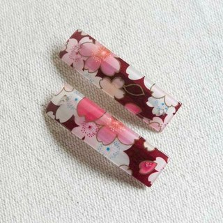 Sakura soft, square folder automatically. Hairpin - red