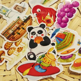 Featured illustration waterproof sticker pack