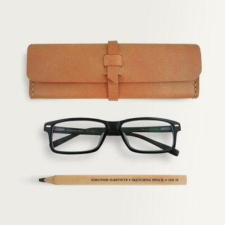 Three-dimensional Square Pencil Case/Spectacle Case -- Camel Yellow