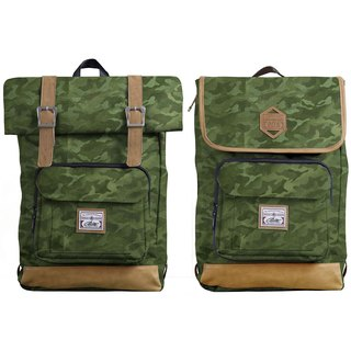 RITE twin package ║ flight bag x vintage bag (L) - dark green camouflage ║