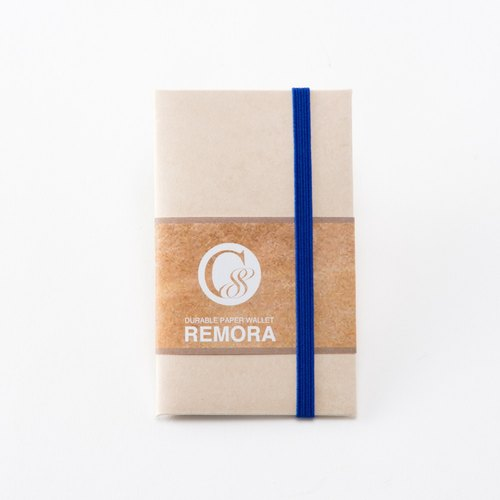 Ultra Light Wallet REMORA / Ivory&Blue