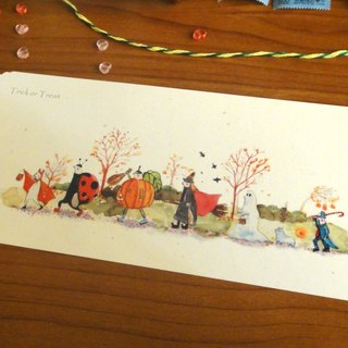 Xue delicate child :: :: Halloween Parade Trick or Treat, pumpkin witch ghost vampire magician ladybug dog not long Trick or Treat Postcards / Cards