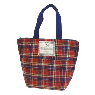 [DESTINO STYLE] Japan 256 grid pattern warm picnic tote bag (large)