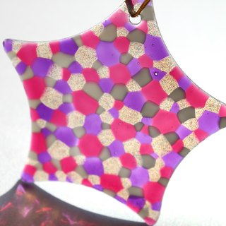 Glass Star・Cute Pink Purple Stained Glass Window Hanging Decoration・Unique Friendship Gifts