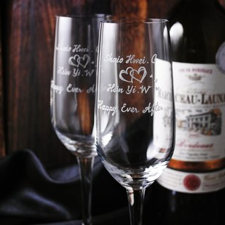 (One pair price) 210cc [MSA] soulmate wedding champagne glass (cut thin edge LOVE Heart of champagne Cup group wedding gift customized
