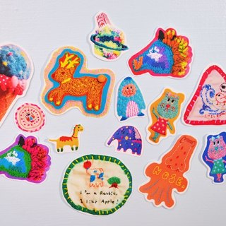 Embroidery stickers happy bag - candy