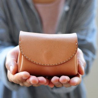 Hand Stitched Leather Mini Wallet/ Purse/ Coin Case (Soft Leather)
