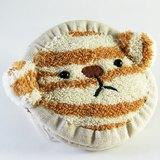 "Cheerful。「""熊""可愛」客製姓名 拉鍊零錢包~豹紋棕"