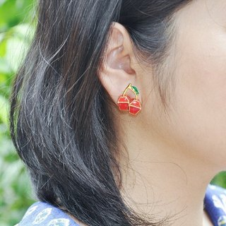 Glorikami Red Cherry earrings