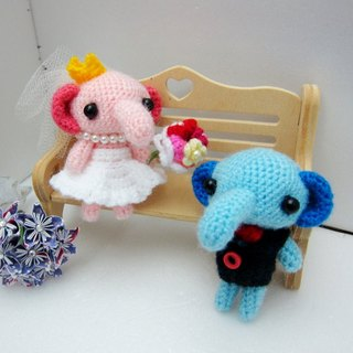 Cute elephant. Wedding Doll (customized part of your wedding dolls)