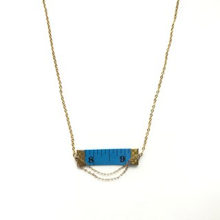 Inch Necklace| Tape measure Necklace | Blue