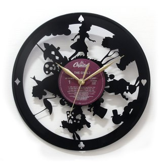 [Time traveler 1888] vinyl clock. Alice's Adventures in Wonderland