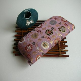 "Jingxijianjin Jin Jinzhi ""Tang grass eight-chrysanthemum"" - long clip / wallet / purse / gift - the last one"