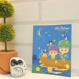 Two brothers postcards allowed (Yetan firefly) WinBrothers PosterCard-firefly