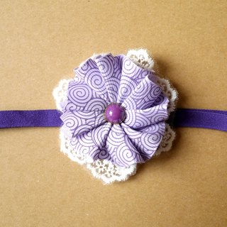 Purple Ribbon flower children hair band / hairpin [] can be customized Family fitted