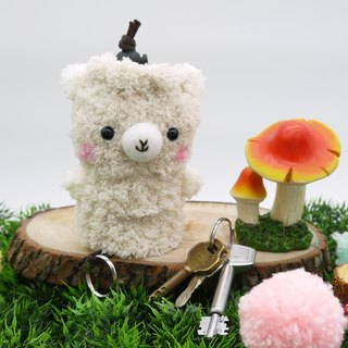 (Alpaca) marshmallow animals Wallets - in key cases
