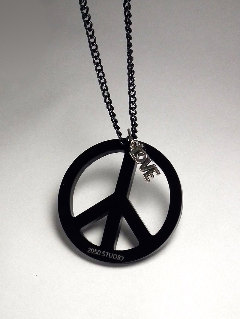 Lectra duck ▲ ▲ peace necklace / keychain