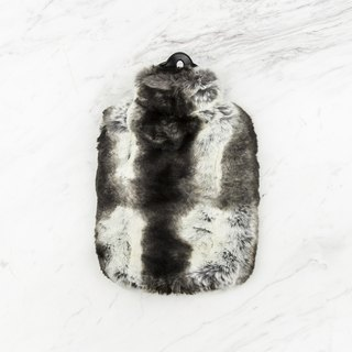 KATRIN LEUZE cold artificial fur hot water bottle - dark gray