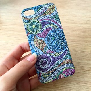 Color Mosaic Pattern Print Soft / Hard Case for iPhone X,  iPhone 8,  iPhone 8 Plus,  iPhone 7 case, iPhone 7 Plus case, iPhone 6/6S, iPhone 6/6S Plus, Samsung Galaxy Note 7 case, Note 5 case, S7 Edge case, S7 case