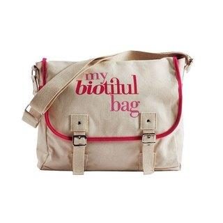 法國my biotiful bag有機棉Messenger Bag-Pink
