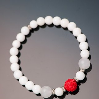 砗磲 series. should.砗磲 cinnabar 6mm bracelet.