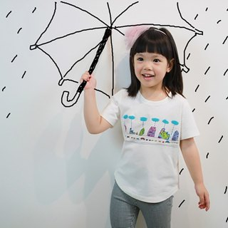 Children's cotton handmade fashion children's t-shirt - childlike the road is raining
