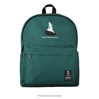 KIITOS Travel Canvas Embroidery Large Capacity Notebook Backpack Backpack - Mermaid #快到货#