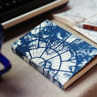 Handmade cyanotype notebook - World Zenith