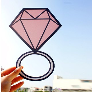 Wedding small things / big ring / cartoon diamond ring / Q version of the diamond ring / marriage props pink