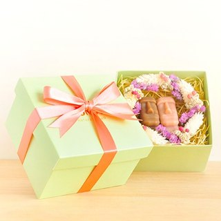 Green Fruit Gift Series - 2 Stones into the + lover wreath + gift box / send small bag