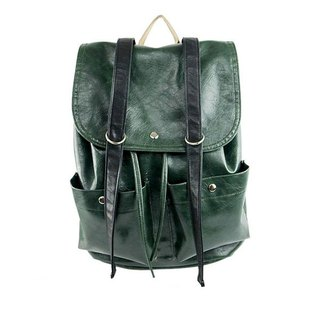 AMIMAH-Popular trend. Vintage leather big backpack (4 colors) [am-0220]