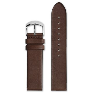 HYPERGRAND Leather Strap - 22mm - Brown Calfskin (Silver Buckle)