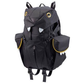Morn Creations Genuine Cute Tiger Backpack - Black (L) (BC-201-BK)