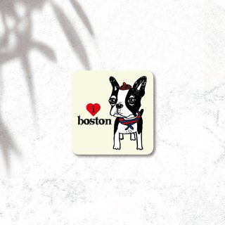 PL illustration design - waterproof dog stickers - Boston Dog