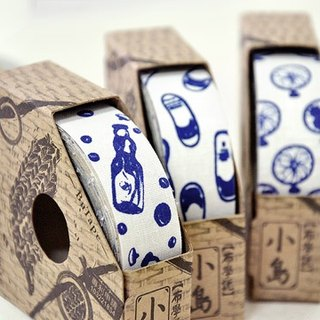 Blue and white cloth tape series -White (1 in)