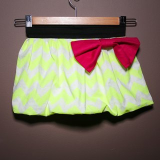 Shiny zig zag bubble skirt - bubble skirt series