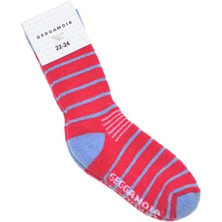 [Nordic children's wear] Swedish organic wool socks red (suitable for 1Y-10Y)