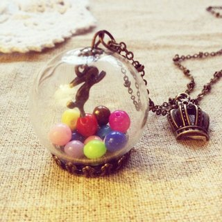 [Imykaka] ♥ crystal ball ball bunny necklace Valentine