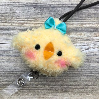 Drizzling chick - Retractable badge & buckle + knitting small objects ticket clip card sets