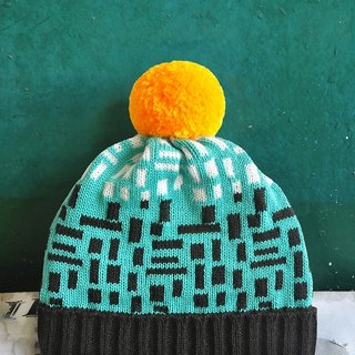 Green Wall Detachable PomPom Beanie Hat