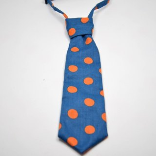 Small little blue orange tie