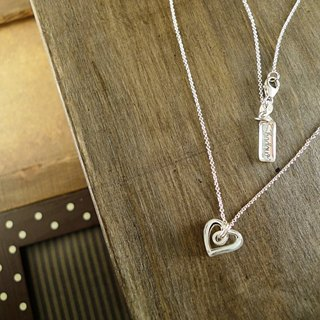 Shadow * silver graffiti series _ heart to heart silver necklace Christmas exchange gifts