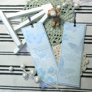 Bookmark handmade cards - Butterfly (Blue)