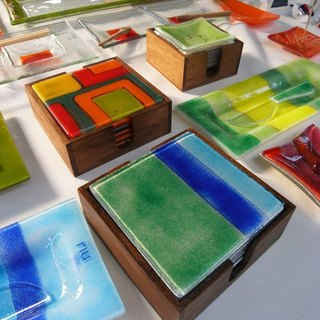 Vista [knowledge], Spain, handmade glass coasters creative group