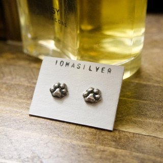 Handmade Silver Cute Cat Paw Earrings Studs Gift For Cat Lover Her Friend Cat Pet Loss Date Wife Mom Christmas Birthday by IONA SILVER