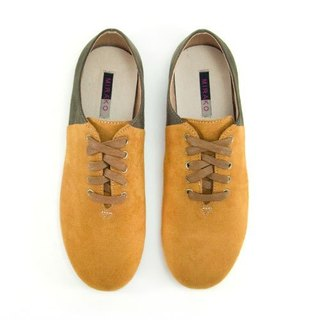 Two Tone Lace-up Shoes M1105A LandGreen