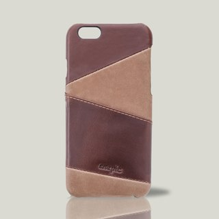 KAHLÚA - i6 / i6S leather back cover of the phone - brown